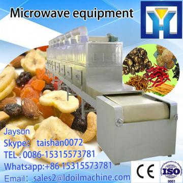 Microwave drying equipment for rubber tape