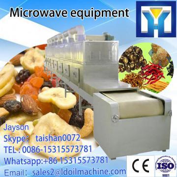Tunnel microwave onion dehydrator