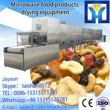 Tunnel type microwave egg yolk powder drying and sterilizing machine