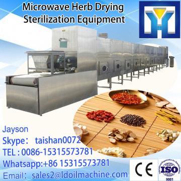 tunnel type microwave Gentian root / medical herbs dryer machine